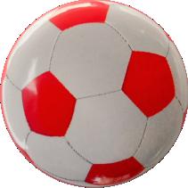 Fussball Button Rot Weiss
